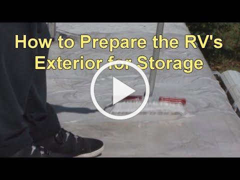 How to Prepare the RV's Exterior for Storage