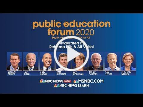 Full video: MSNBC's Public Education Forum 2020