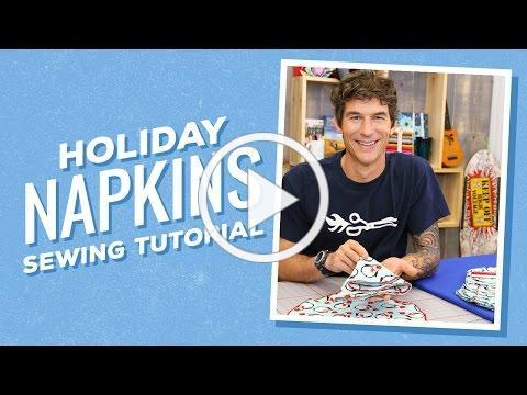 Make Your Own Circular Napkins - And Fold 'Em Like Christmas Trees!
