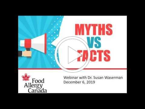 Food allergy myths webinar