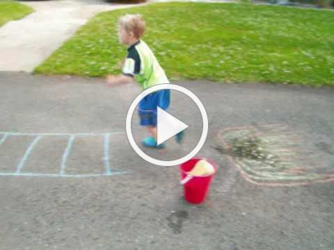 Sidewalk Chalk Fun and Games