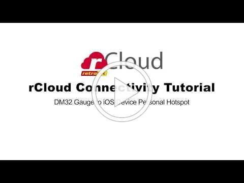 rCloud Connetivity Tutorial Gauge to iOS Device Personal Hotspot