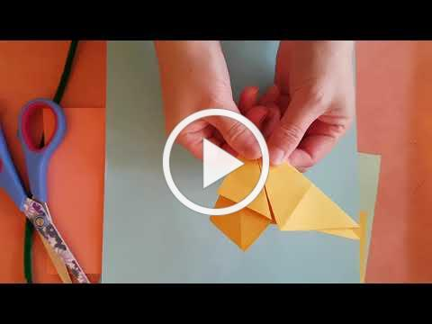 (Cantonese)折紙-小星星。Origami star.