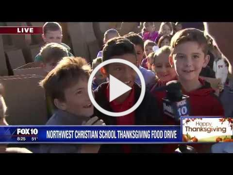 Food Drive with Northwest Christian School