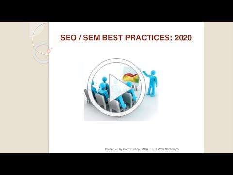 Search Engine Optimization & Search Engine Marketing Training - by SEO Web Mechanics - 2020