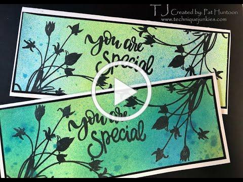 Shimmering Slimline Silhouette Card