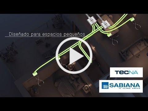 Ventilación residencial con Recuperador de calor Sabiana ENY 130 - Tecna