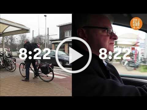 Fileidee: treinfietser Dirk de Kort