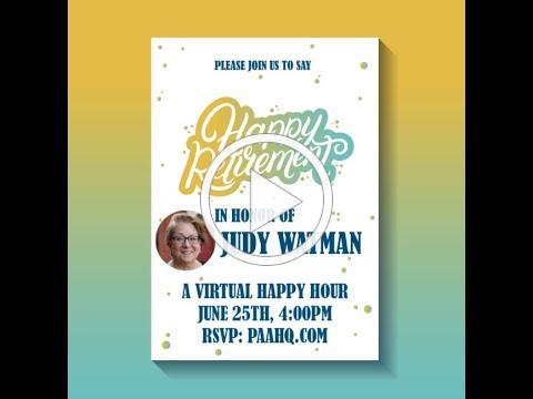 Happy Retirement Judy Watman!