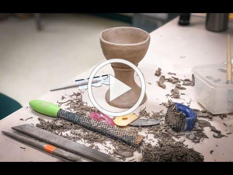 Making a Handbuilt Goblet, Chalice, or Wine Cup Form from Pinching Clay