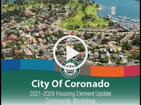 Coronado Housing Element Virtual Workshop