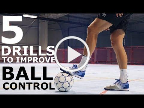 5 Individual Drills to Improve Tight Space Control | Five Ball Mastery Exercises For Footballers