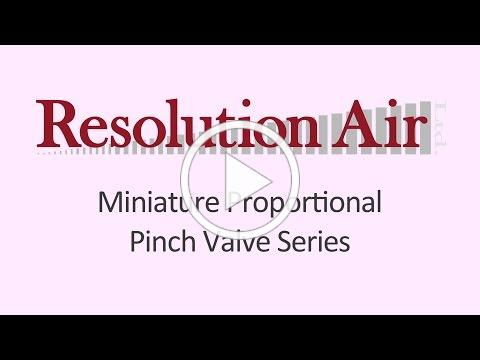 Resolution Air Miniature Proportional Pinch Valve Series