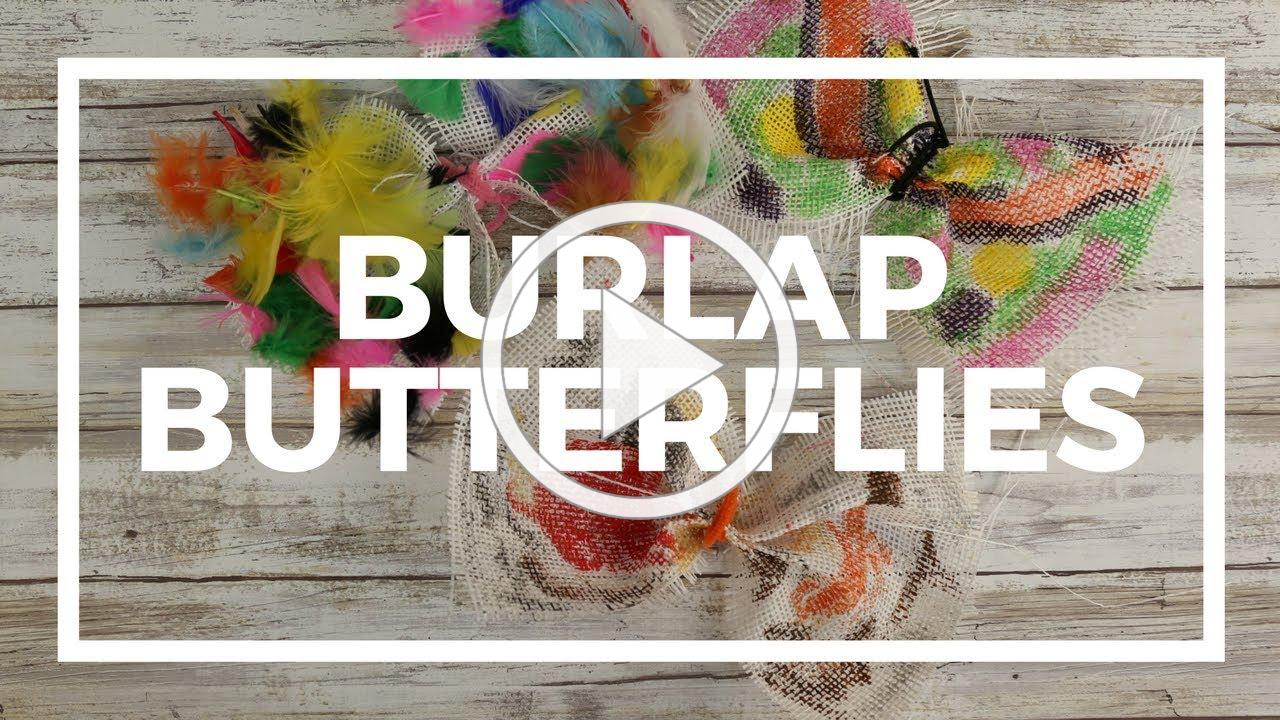 Burlap Butterflies   Kaplan Early Learning Company