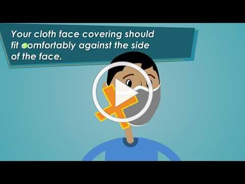 How to wear a face cover-English
