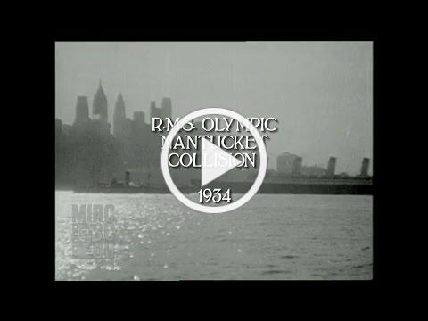 RMS Olympic Nantucket Collision 1934 (HD/audio)