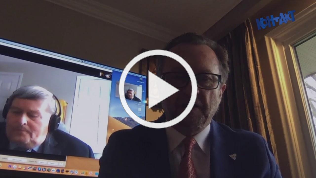Jurij R. Klufas with Victor Hetmanchuk (Canada Ukraine Foundation)