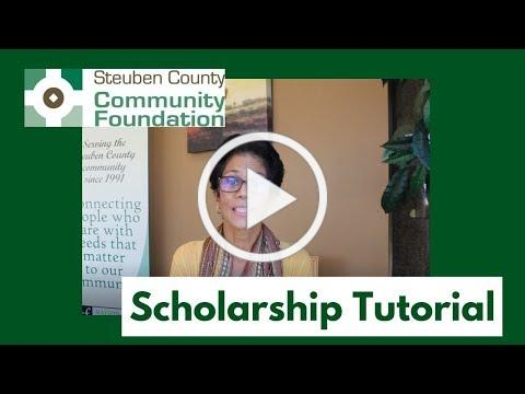 SCCF Scholarship Application Tutorial