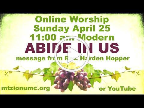 Mt Zion UMC Modern Worship - April 25, 2021