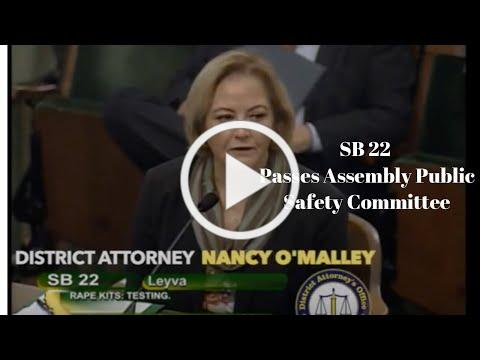SB 22 Passes Assembly Public Safety Committee 6-11-19