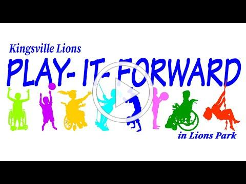 Kingsville Lions Play-It-Forward in Lions Park