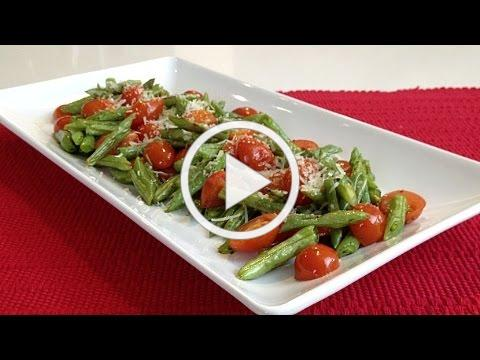 Oven Roasted Italian Green Beans And Tomatoes-Savor The Flavor-Brittany Allyn