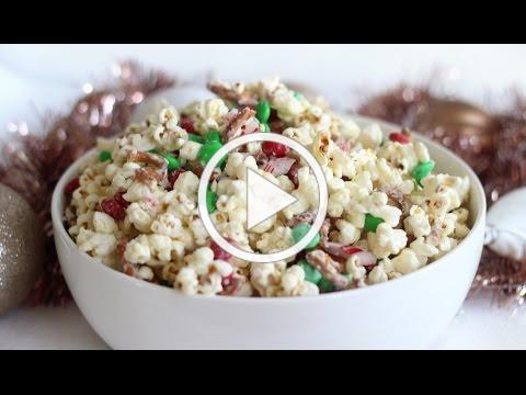 Christmas Crunch Popcorn | Christmas Recipe