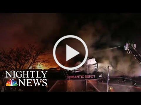 Video Captures Terrifying Explosion During Five-Alarm Fire | NBC Nightly News