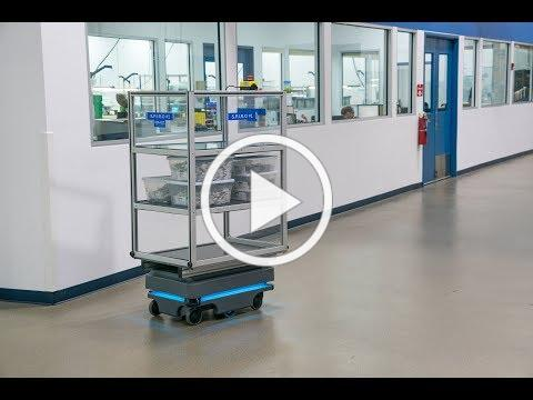 MiR200 robot automates warehouse-to-cleanroom material transport operations at Argon Medical Devices