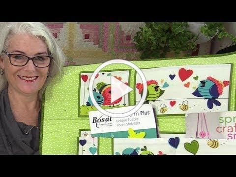 Quilted Wall Pocket Organizer