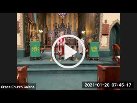 Grace Episcopal Church, Galena IL, Wednesday Eucharist 1 20 2021