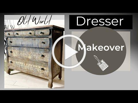 Thrift Store Makeover Using Chalk Paint with EASY BLENDING and IOD Transfers!