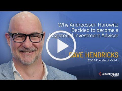 Why Andreessen Horowitz Decided to become a Registered Investment Advisor