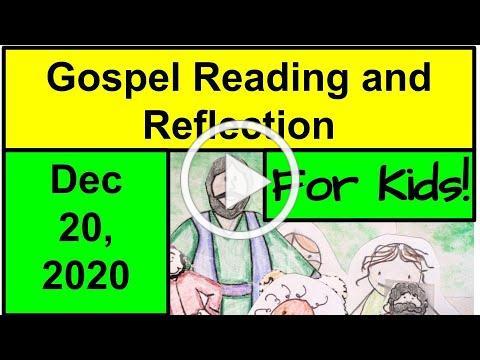Gospel Reading and Reflection for Kids - December 20, 2020 - Luke 1:26-38