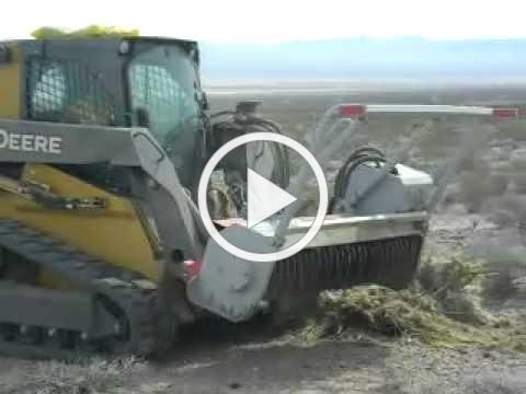 Ivanpah Brush Hog vs. Old Growth Desert March 2011