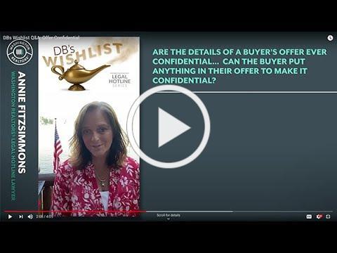 DBs Wishlist Q&A: Offer Confidential