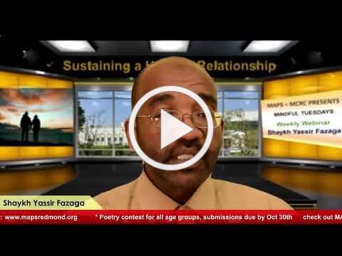 Healthy relationship - with Sh. Yassir Fazaqa