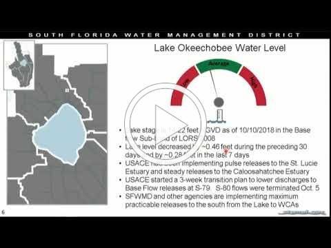 Operations Update: Managing High Water, Oct. 11, 2018