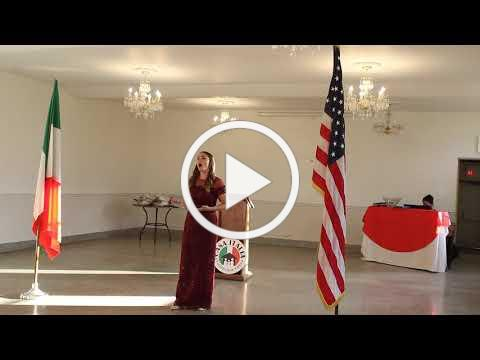 2020 Casa Italia Vocal Scholarship - Raimondi Scholarship Winner - November 8, 2020, Video 1