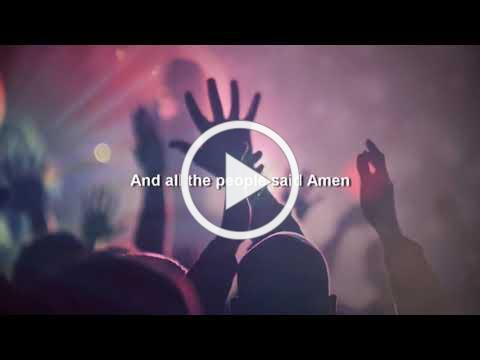 """All The People Said Amen - Sing Along Lyric Video from The Pinehurst UMC """"Connections"""" Praise Band"""