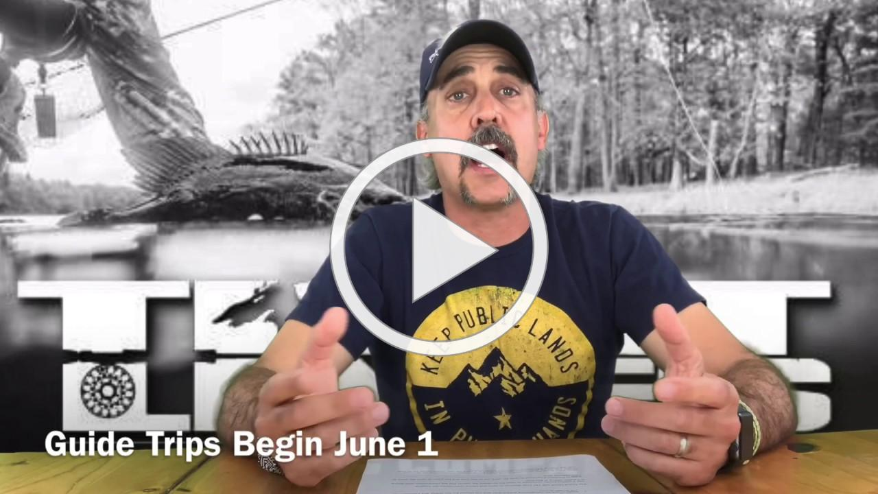 Tight Lines Guide Trips to Reopen June 1 2020