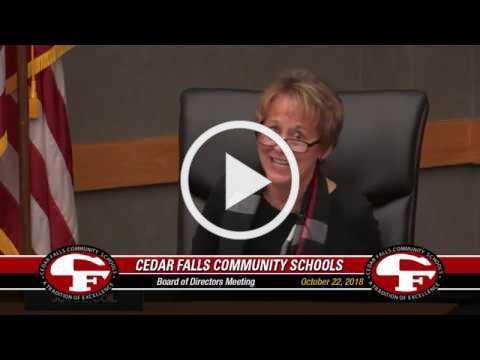 Cedar Falls Board of Education meeting - October 22, 2018