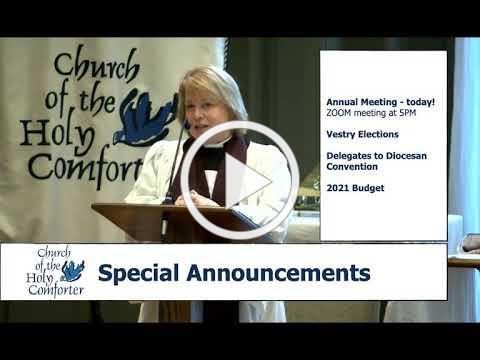 Fourth Sunday after the Epiphany, January 31,2021