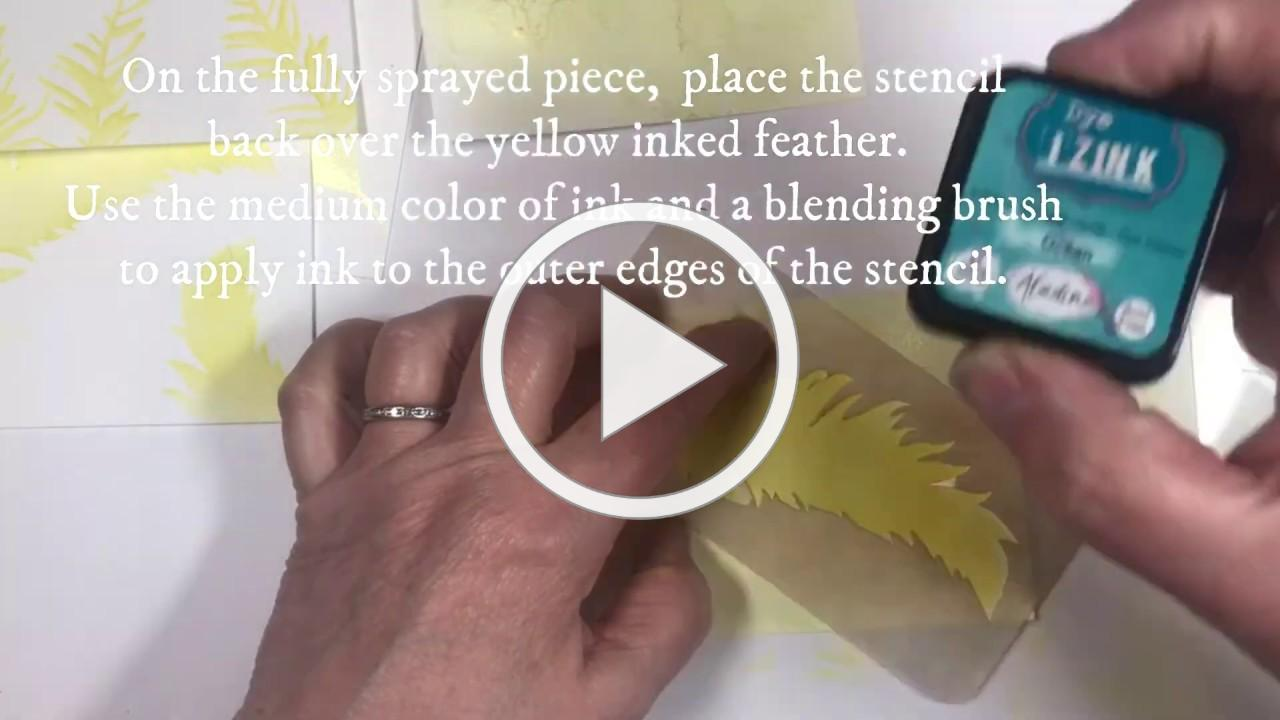 Feather Card Kit from Technique Junkies