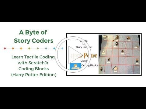 A Byte of Story Coders: Learn Tactile Coding with ScratchJr Coding Blocks(Harry Potter Edition)
