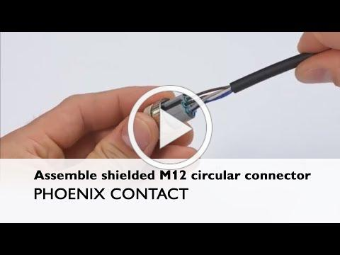 How to assemble an M12 Push-in field-wired connector