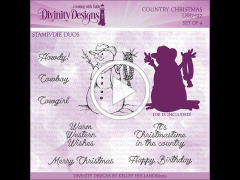Country Christmas Stamp/Die Duos - Copic Coloring with Dawn Lusk