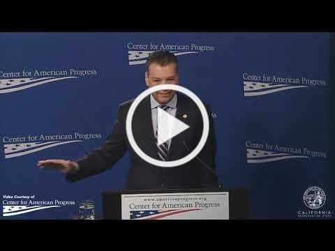 Secretary Padilla Speaks in Washington D.C. 11/15/2018