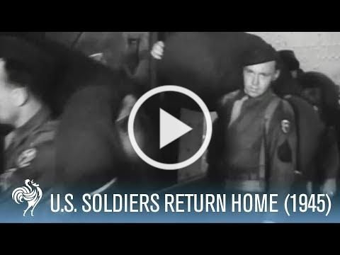 15,000 American Soldiers Return Home to New York (1945) | War Archives
