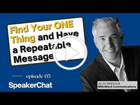 SpeakerChat: Find Your One Thing